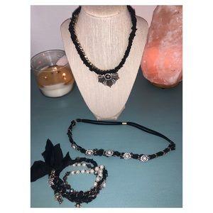 NYC designer brand necklace and wrap bracelet